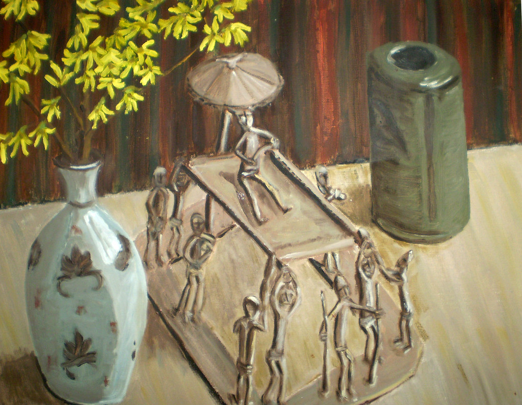 Still life with Ashanti gold weight