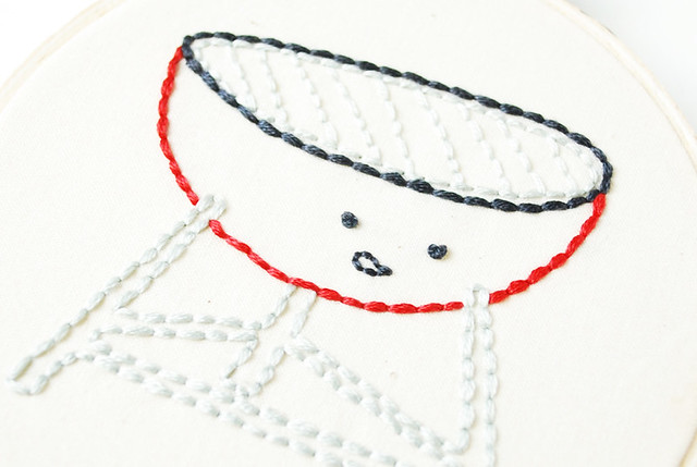 Grumpy Grill Free Embroidery Pattern