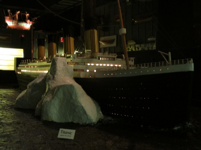 Titanic Model with Iceberg at the House on the Rock