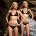 Nikon D800 Photoshoot of Twin Sister Bikini Swimsuit Model Goddesses