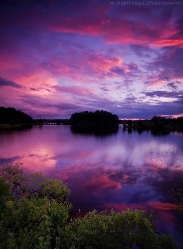 pink blue sunset sky sun lake color reflection water grass silhouette clouds pretty sigma1020mm sheltonconnecticut trapfallsreservoir jackwassell