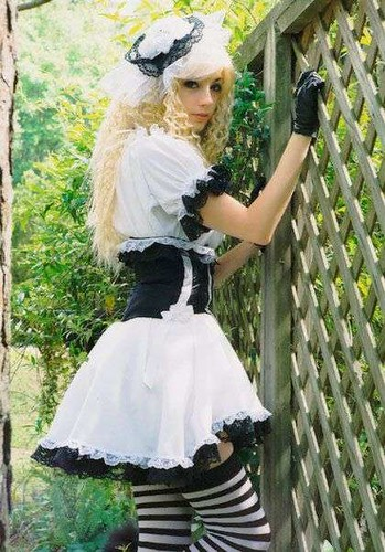 black and white gothic clothing