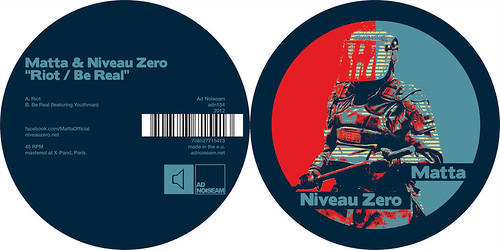 "Matta & Niveau Zero ""Riot / Be Real"" - adn154"