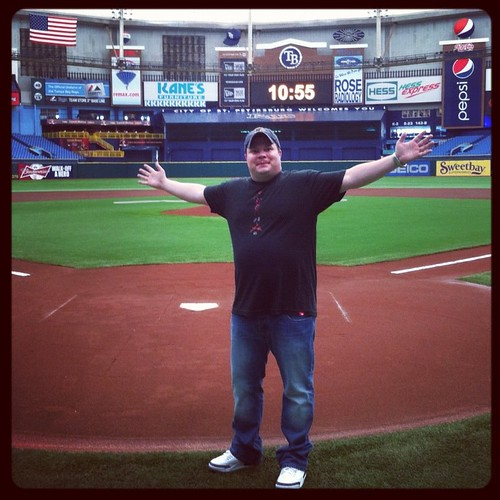 John Caparulo Throwing Out First Pitch