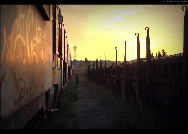 Sunset on track