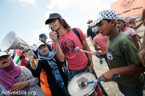 Demonstration against demolitions, Susya, West Bank, 22.06.2012
