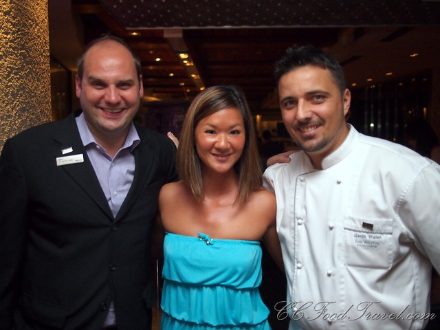 Westin's Manager Benjamin Zahn, Executive Chef of Westin Garth Welsh and ME!