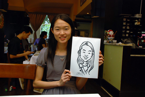 Caricature live sketching at La Noce Italian Restaurant -3