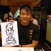 Caricature live sketching at La Noce Italian Restaurant -7