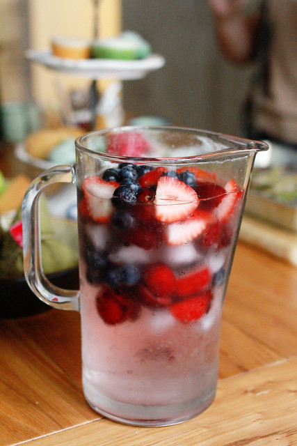 Refreshing Summer Drink with Berries