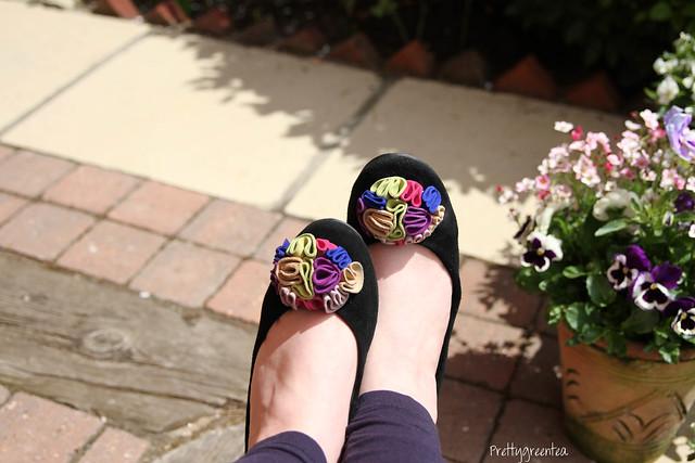 prettygreentea flower shoes
