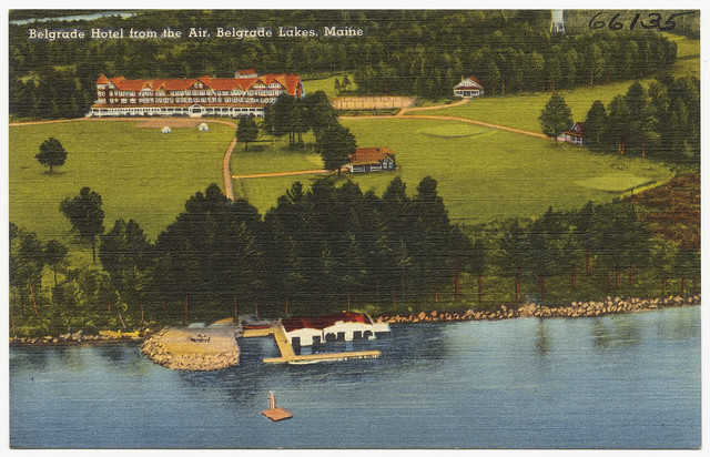 Hotels In Boston >> Belgrade Hotel from the air, Belgrade lakes, Maine | Flickr - Photo Sharing!