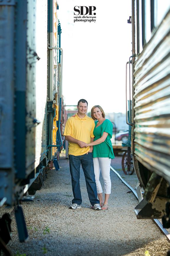 Atchison Rail Museum engagement photos