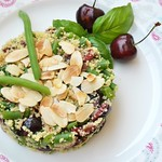 Cous Cous with Green Beans and Cherries