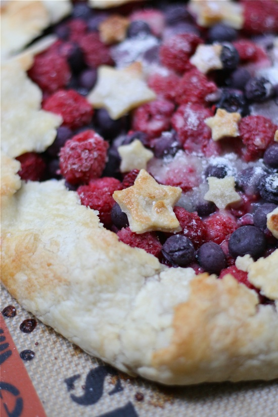 4th of July Double Berry Galette