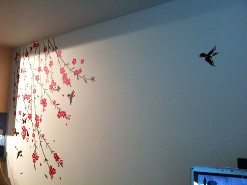 Cherry Blossoms, Birds, Butterflies Wall Vinyl