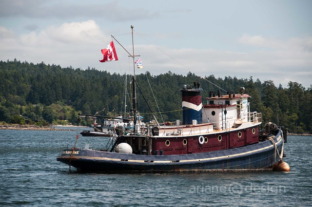 The Seahorse tugboat in Ganges Harbour