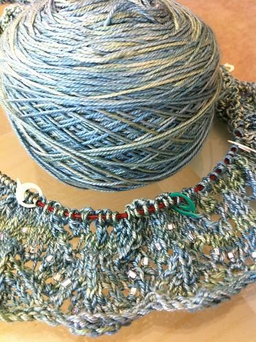 Summer solstice mystery shawl