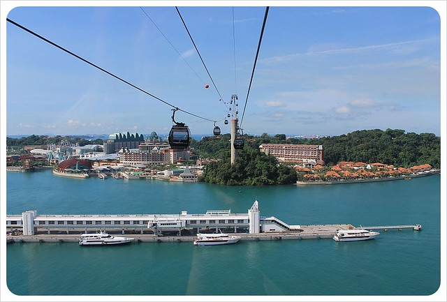 singapore cable car to sentosa island