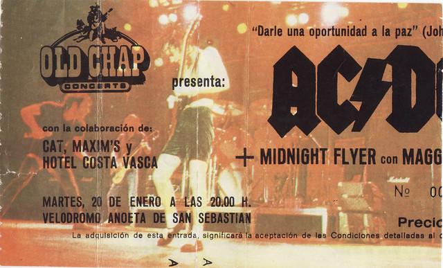 AC/DC Donostia 1981