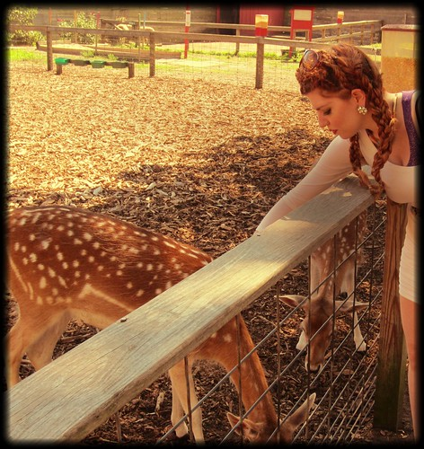 With my deer friends: photo 3