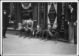 A.D.T. Boys. They all smoke. Birmingham, Ala, November 1910
