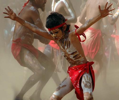 Aboriginal boy dancing