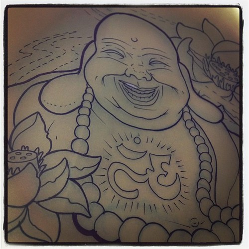 laughing buddha drawing - photo #15