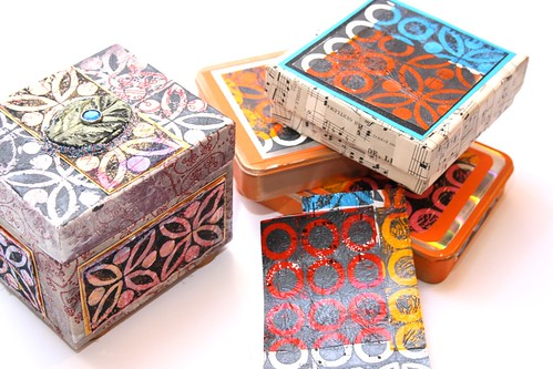 Sewing project ideas - decorating boxes