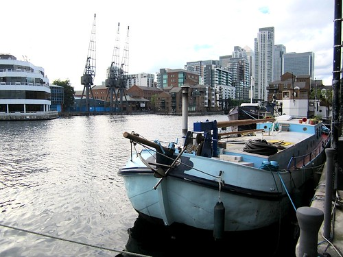 Boats in Millwall Dock