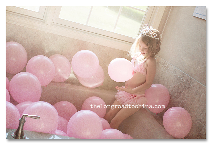 Balloon Bath with Beautiful Light Shining through BLOG