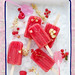 watermelon, raspberry and currant popsicles