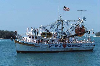 Blessing of the shrimp fleet off Mallory Square: Key West, Florida