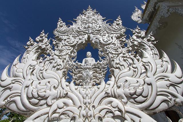 Meditating Buddha Sculpture, Wat Rong Khun