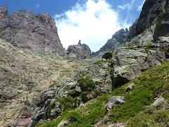 Col franchissable : le vallon supérieur vers Bocca a Rossa