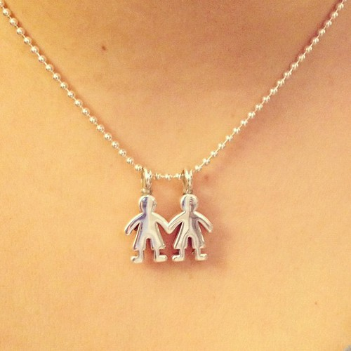 Gorgeous necklace from my parents for my 30th birthday! My 2 boys!