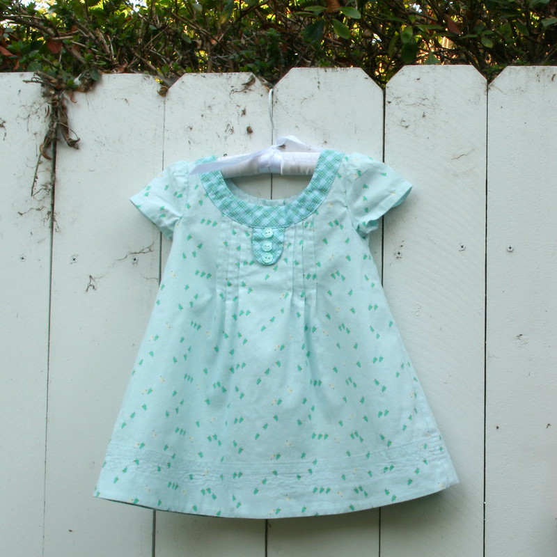 Oliver + S Family Reunion Dress in Pinfeather by Carina Gardener Fabric