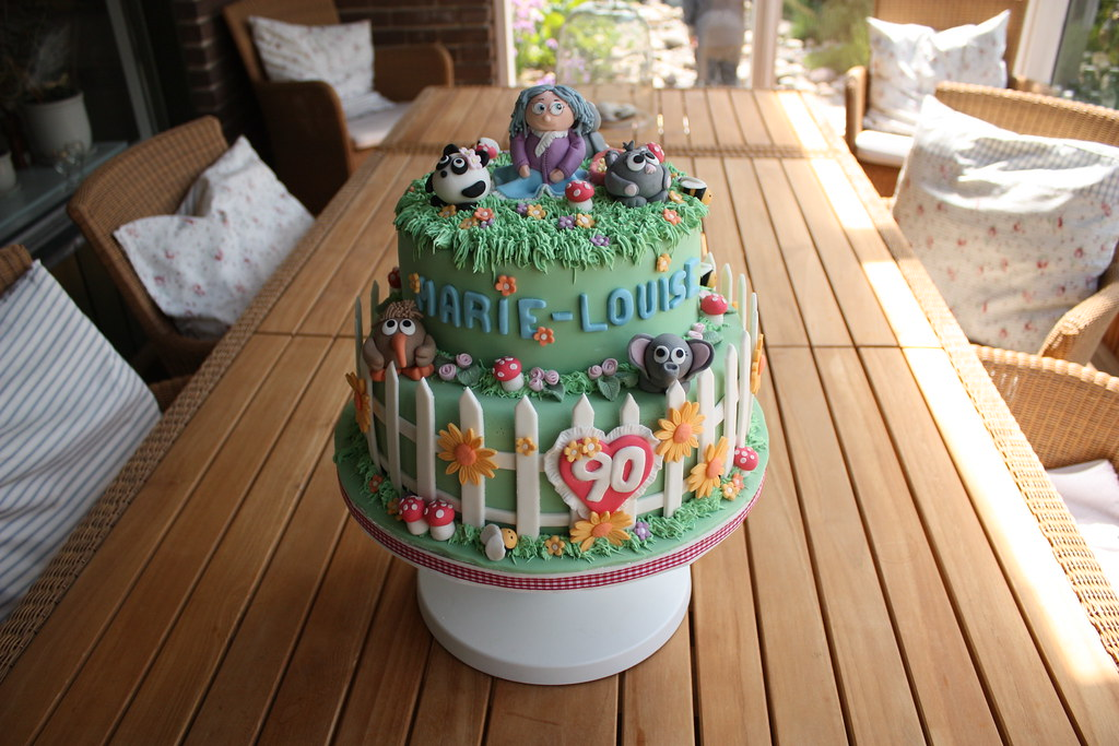 SomeGuyMakingCakes Garden Theme Birthday Cake