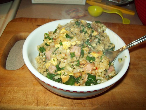 Spinach Fried Rice I