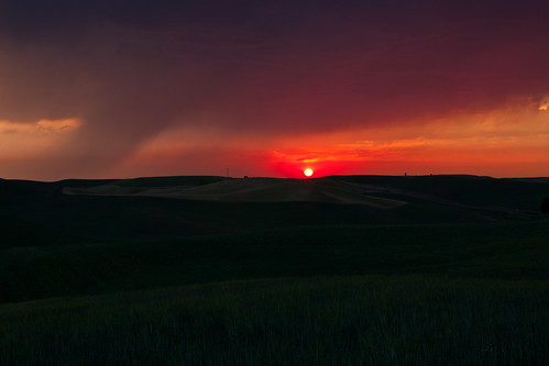 Stormy sunset on the Palouse