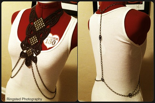 DIY: Body Chain Harness with Antiqued Brass Stud Detail by Sanctuary-Studio