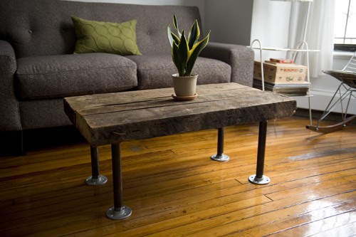 Coffee table with pipe legs flickr photo sharing for Attractive diy coffee table legs