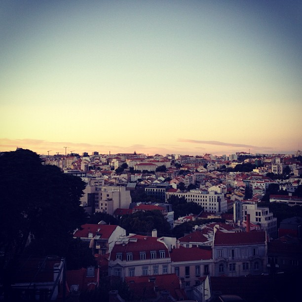 Catching up with friends. And the view. #lisbon