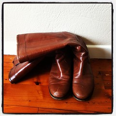 This is how I WAS storing my favourite boots. Shame on B.