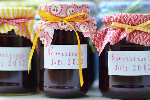 Sauerkirsch Marmelade Sour Cherry Jam