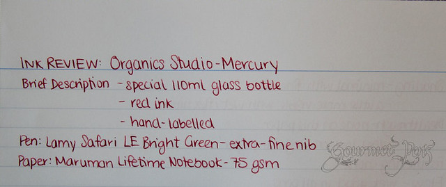 Organics Studio Mercury Red Writing