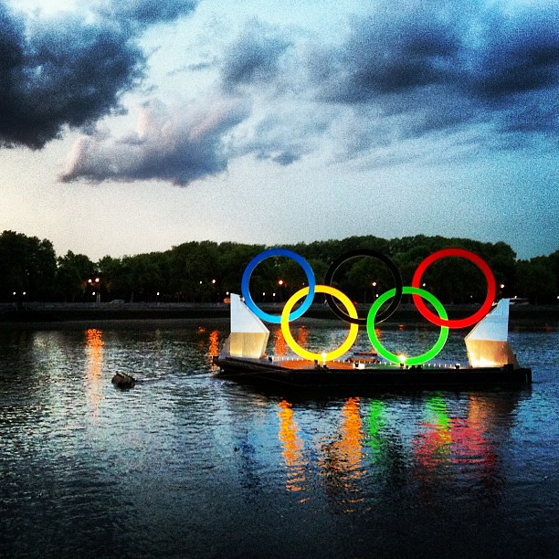 #olympics #rings #battersea #london #london2012 #river by ming.photographer