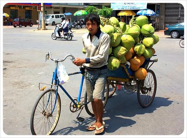 coconut vendor battambang