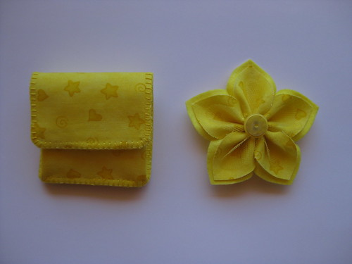 Yellow Coin Pouch & Brooch by ONE by one