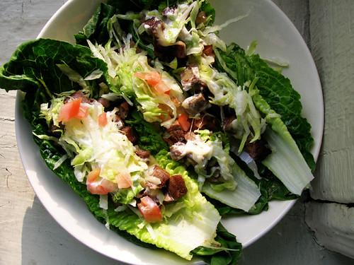 lechos a.k.a tacos in lettuce wraps